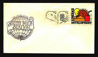US 1980 South Pole Station Antarctic Cover / Cancel Over Stamp Fold - Z15573