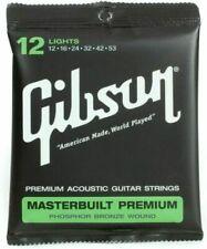 Gibson Masterbuilt Premium, Phosphor Bronze Acoustic Guitar Lights 12-53