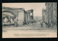 Greece SALONIQUE Salonica Fire disaster 1917 French Quarter ruins PPC