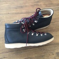 Gently Owned Men's Fracap M128-01 Ripple Boots Black Leather US 11.5 Italy 46