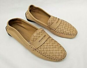 ROBERT ZUR FOR RUSSELL & BROMLEY DARK CREAM LOAFERS USA9.5 FITS UK7 FREE UK P&P!