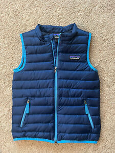 Patagonia Toddler Boy's Size 5T Blue Vest Jacket Coat Down Sweater Puffer EUC