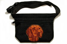 Embroidered Dog treat pouch/bag. Breed - Hungarian Vizsla