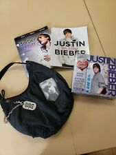 LOT Justin Bieber Items 2 Books:  Bieber Fever, Oh Baby,  Puzzle, Purse T'shirt