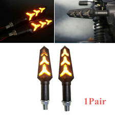 2PCS Motorcycle LED Turn Signal Lamp Sequential Flowing LED Indicator Light 25cm