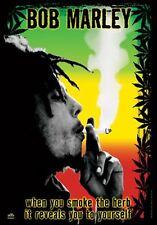 BOB MARLEY - POT SMOKING - FABRIC POSTER - 30x40 WALL HANGING HERB WEED 51941