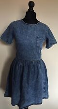 Da Donna Acido Wash Demim Skater Dress URBAN RENWAL Festival Hipster Grunge UK 6