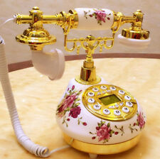 Rotary Phone Antique Old Vintage Fashioned Telephone French Style Princess Retro