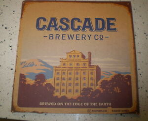 Old Cardboard Brewery sign  -  Cascade Brewery  28 by 28 cms