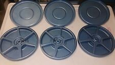 Three Vintage 8MM Movie Reel & Canister Assortment Metal Film Reels Photo Decor