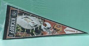 NFL ARIZONA CARDINALS vs SAN FRANCISCO 49ers INAGURAL GAME PENNANT IN SLEEVE