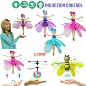 Flying Fairy Princess Dolls Magic Infrared Induction Control Girl Toy Gift AU