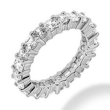 6.31 ct Round & Princess cut Diamond Eternity Band 9 x 0.40 & 9 x 0.30 ct Sz 6.5
