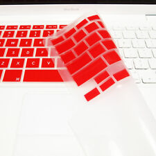 "FULL RED Silicone Keyboard Skin Cover  for Old Macbook White 13"" (A1181)"