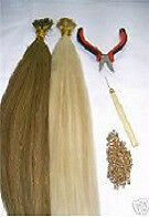"Do-It-Yourself I-Tip Hair Extension Kit 22"" Silky European Remy Hair 200 Strands"