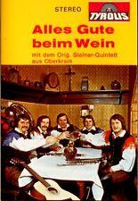 STEINER QUINTET Alles Gute Beim Wein cassette tape 1974 German folk music OG