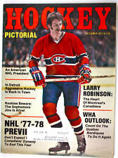 (#753)Larry Robinson on cover Hockey Pictorial Oct 1977