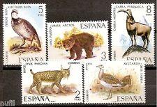 Spain Edifil # 2036/2040 ** MNH set  Fauna / animals / aves / birds