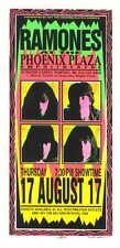 1995 Ramones - Pontiac Silkscreen Concert Handbill by Arminski poster signed