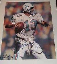 DAN MARINO Signed Auto Miami Dolphins 16X20 Canvas Photo JSA COA!
