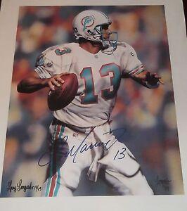 DAN MARINO Signed Auto Miami Dolphins 16X20 Canvas Photo JSA COA!
