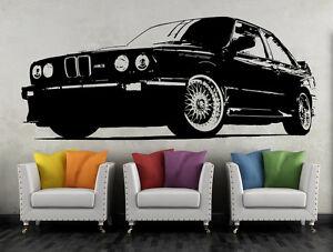 Wandtattoo BMW M3 e30 Sportwagen Wandbild Auto Deko Aufkleber Wand Tattoo