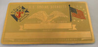 K of C US Social Security Metal Card Tag NOS VTG Perma Products