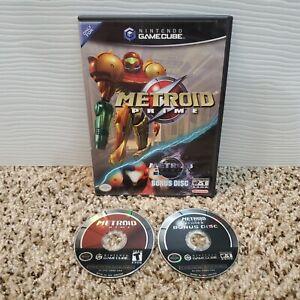 Metroid Prime Nintendo Gamecube Game W/ Prime 2 Echoes Bonus Disc