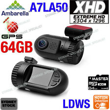 Ambarella Dash camera A7 1296P GPS log XHD mini 0805 Crash Blackbox Truck Cam
