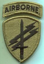 US Army Civil Affairs Psychological Operations Cmd W/Airborne Tab Patch Multicam