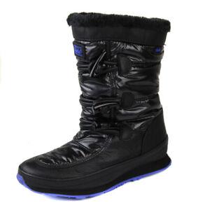 Keds Women's Black Powderpuff Faux Fur Lined Boots Shoes Ret $100 New