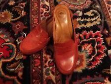 Gorgeous Nurture Jordan Rust Burnt Orange Leather Mule Slide 8M EUC