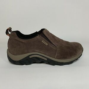 Merrell Jungle Moc Youth Kids Size 2.5 Brown Leather Slip On Loafer Shoes
