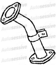Vauxhall Brava 2.5Td Pick Up 4X4 Tfs54 99-01 Exhaust Front Pipe Underfloor Part