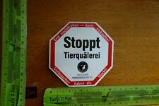 Alter Aufkleber Natur Tiere Umweltschutz Deutscher Tierschutzbund STOPPT...