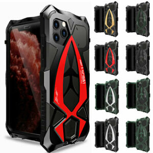 LUPHIE Shockproof Aluminium Metal Rugged Armor Case For iPhone 13/12/11 Pro Max