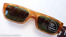 Sonnenbrille breit Damen Herren Hornoptik braun Gr. L Eschenbach neu rechteckig
