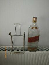 More details for johnnie walker red label 4.5 litre large whisky bottle with cradle ideal 4 coins