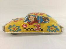 Vintage Friction Tin Litho Animal Txi Volkswagen VW #3 STP Toy Car  K Japan
