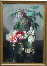 Catherine m bois 1857-1939 british impressionniste huile peinture art floral encore l