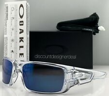 Oakley Crankshaft Sunglasses OO9239-04 Polished Clear Ice Iridium Lens 60mm