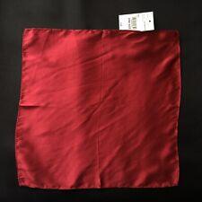 Unbranded J.C. Penney Red 100% Silk Pocket Square