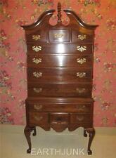 Ethan Allen Bonnet Top Highboy Georgian Court Cherry Collection 11 5205
