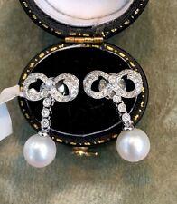 18 KT oro perle e orecchini di diamanti