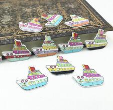 25pcs Wooden Mixed Ship Buttons Sewing decoration Handicrafts scrapbooking 30mm