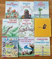 Lot 9 BILL PEET Books Caboose Who Got Loose Chester the Pig Autobiography