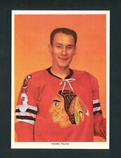 1963-65 CHEX CEREAL HOCKEY PHOTO PIERRE PILOTE CHICAGO BLACK HAWKS rare