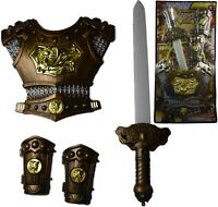 Medieval Sword Knights Armour Chest Plate Gauntlets Toy Kids Fun