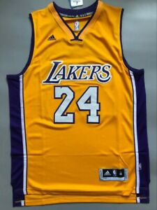 NWT Men's Kobe Bryant #24 Los Angeles Lakers Swingman Jersey Yellow Size S-XXL