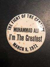 Vintage Muhammad Ali vs Frazer The Fight of the Century March 8 1971 3 1/2 Pin